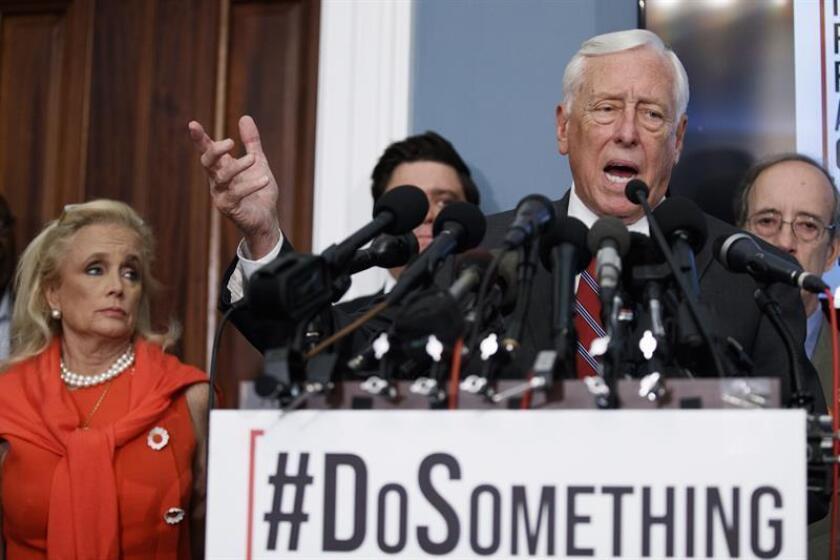 Democrats demand Senate vote on toughening access to guns