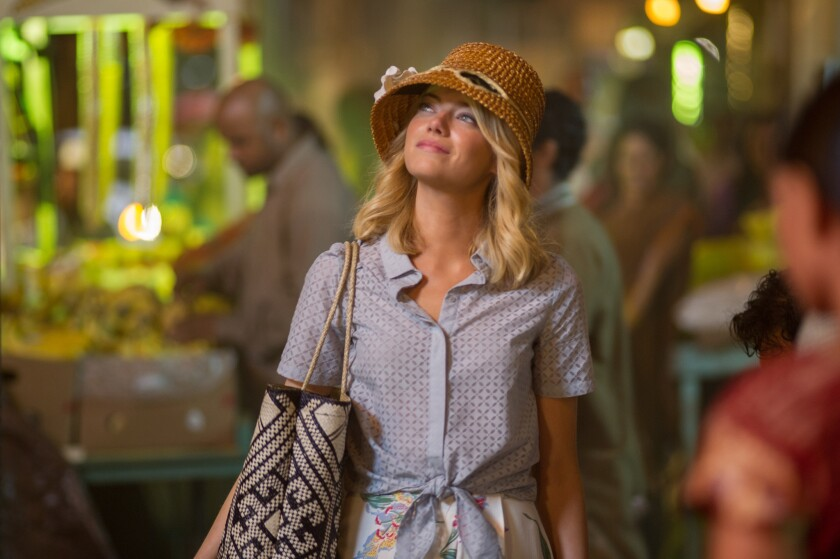"""Emma Stone portrays Capt. Allison Ng, who is one -quarter Chinese, one-quarter Hawaiian and one-half Swedish, in """"Aloha."""""""
