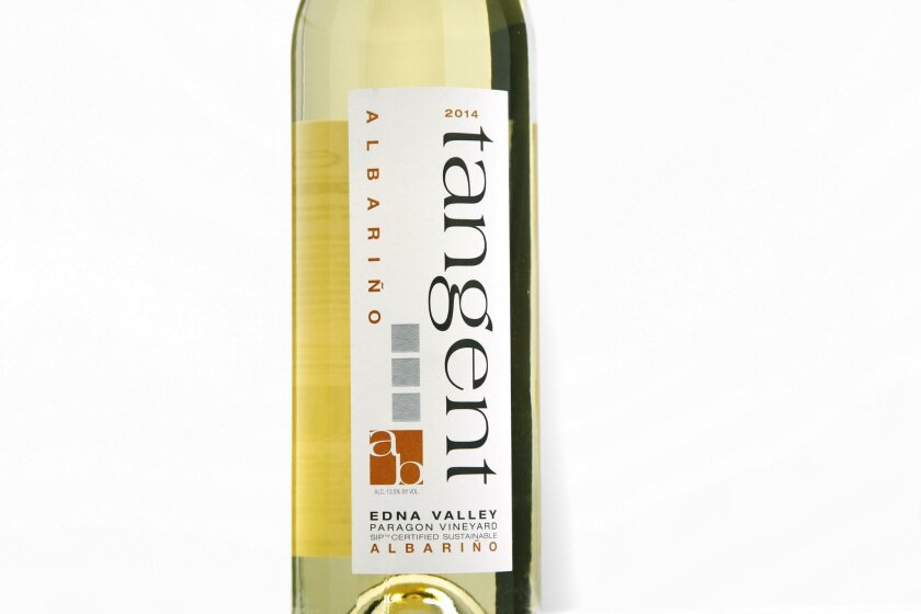 A trip up the SLO wine country yielded an interesting find: albariño, like this delicious one from Tangent, thrives in the region's cool climate.