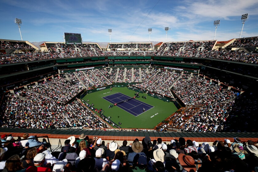 The main court at Indian Wells.