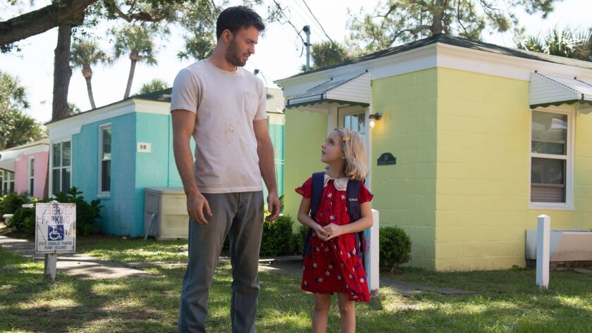 "Chris Evans and Mckenna Grace in ""Gifted."""