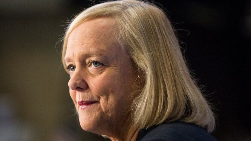 Hewlett Packard CEO Meg Whitman Rings NYSE Opening Bell