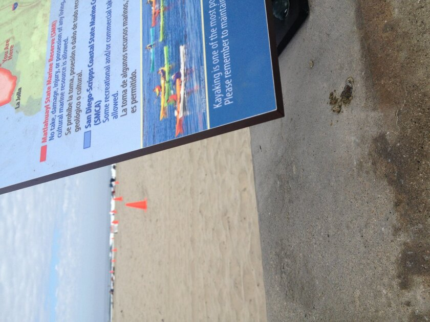 The new signage at the beach has very pointed corners just waiting for some poor child to run into,