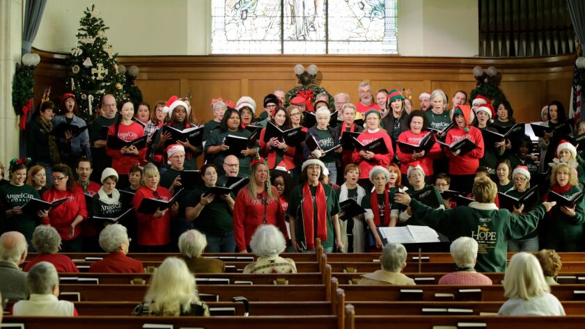 Angel City Chorale will perform its 24th annual holiday concert and sing-along at Immanuel Presbyterian Church in L.A.