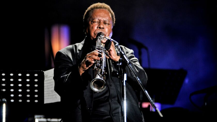 "Wayne Shorter at the 2014 International Jazz Day Global Concert in Osaka, Japan. This week, Shorter returns with the expansive ""Emanon."""