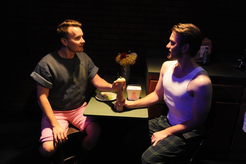 "Stewart Calhoun and Jacob Caltrider in ""Marry Me a Little"" at Diversionary Theatre."