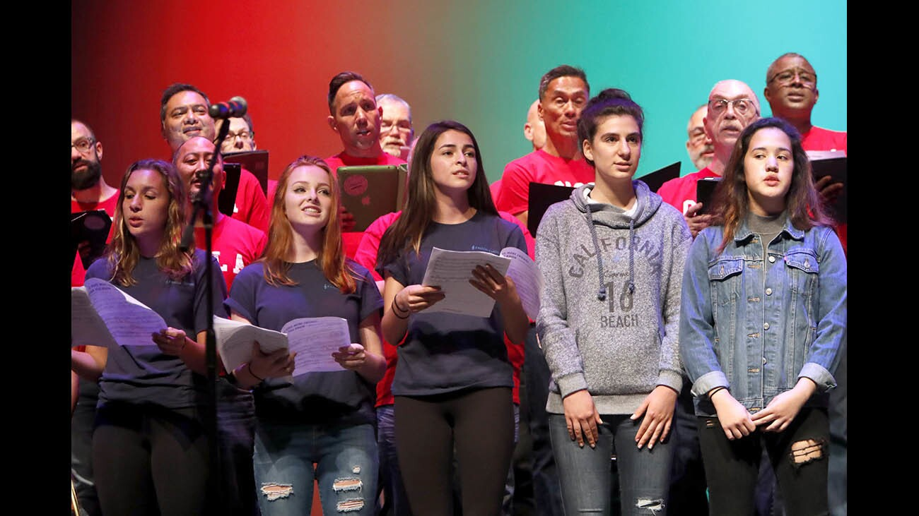 Photo Gallery: Gay Men's Choir of Los Angeles performs at Crescenta Valley High School as part of Ally Week