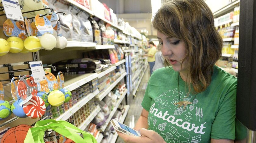 Instacart is among the companies pushing to blunt the impact of a California Supreme Court ruling that could make it much harder for them to claim their independent contractors are not full-fledged employees.