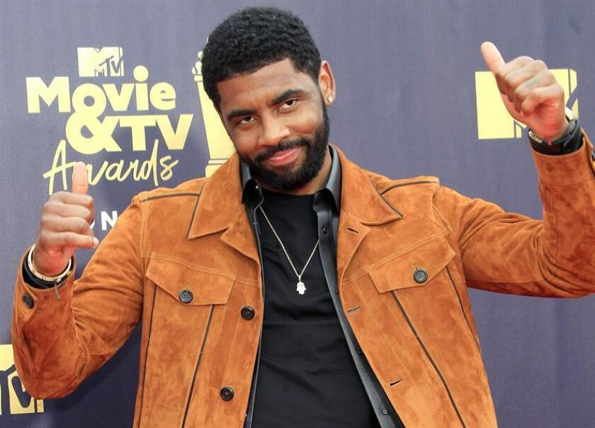 US NBA basketball player Kyrie Irving arrives for the 2018 MTV Movie and TV Awards at the Barker Hanger in Santa Monica, California, USA, 16 June 2018. EPA-EFE/FILE/NINA PROMMER