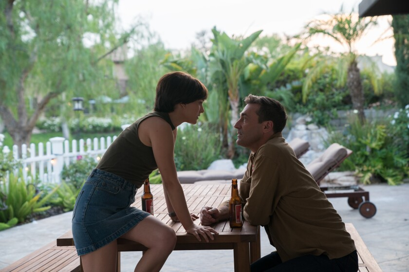 "Natalie Portman and Jon Hamm in the 2019 movie ""Lucy in the Sky"" on HBO."