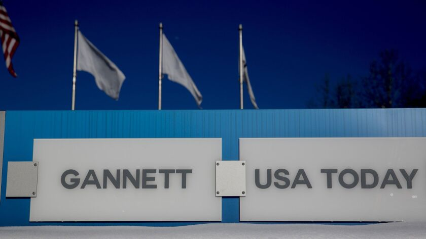 Gannett's newspapers include USA Today, the Ventura County Star and Palm Springs' Desert Sun.