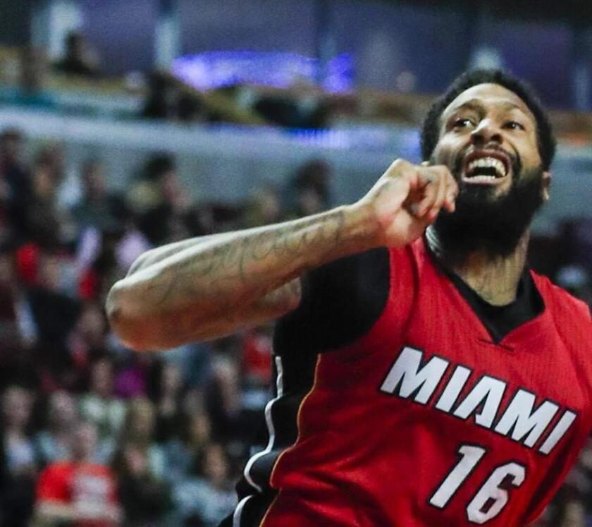 El reserva de los Heat de Miami James Johnson. EFE/Archivo