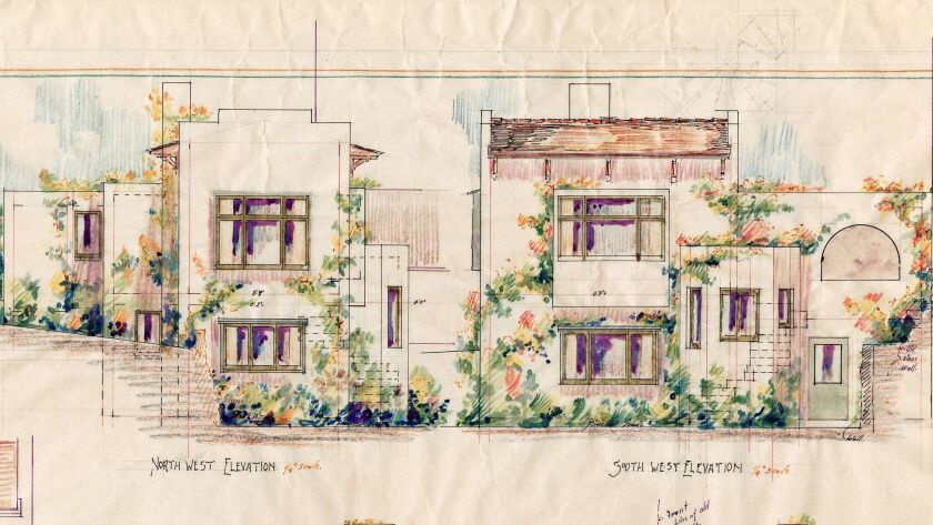 Architect Irving Gill designed the Wheeler J. Bailey house, constructed in 1907, in La Jolla.