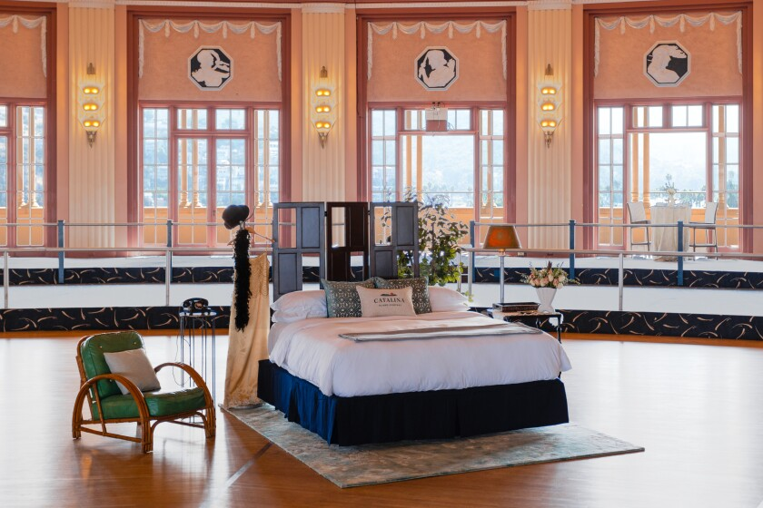 The custom bedroom inside the Catalina Casino were two can spend the night in November.