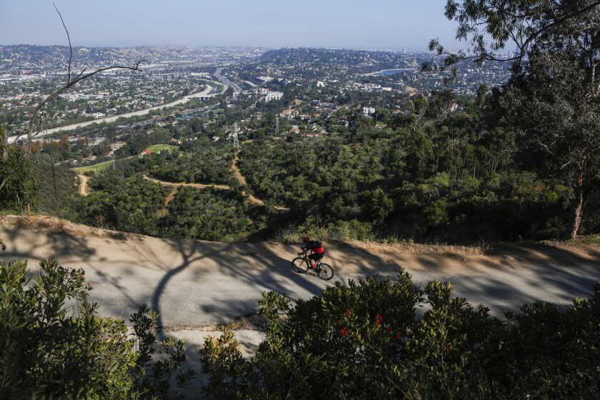 This trail south of Griffith Park offers spectacular views.