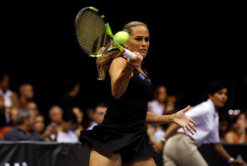 La medalla de oro conquistada por la tenista Mónica Puig en los Juegos Olímpicos de Río de Janeiro fue la noticia deportiva en Puerto Rico durante 2016. EFE/ARCHIVO