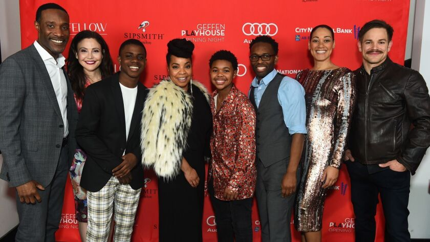 "The cast of ""Black Super Hero Magic Mama"" attend an after-party celebrating the new play, which is at Geffen Playhouse in Westwood through April 14."