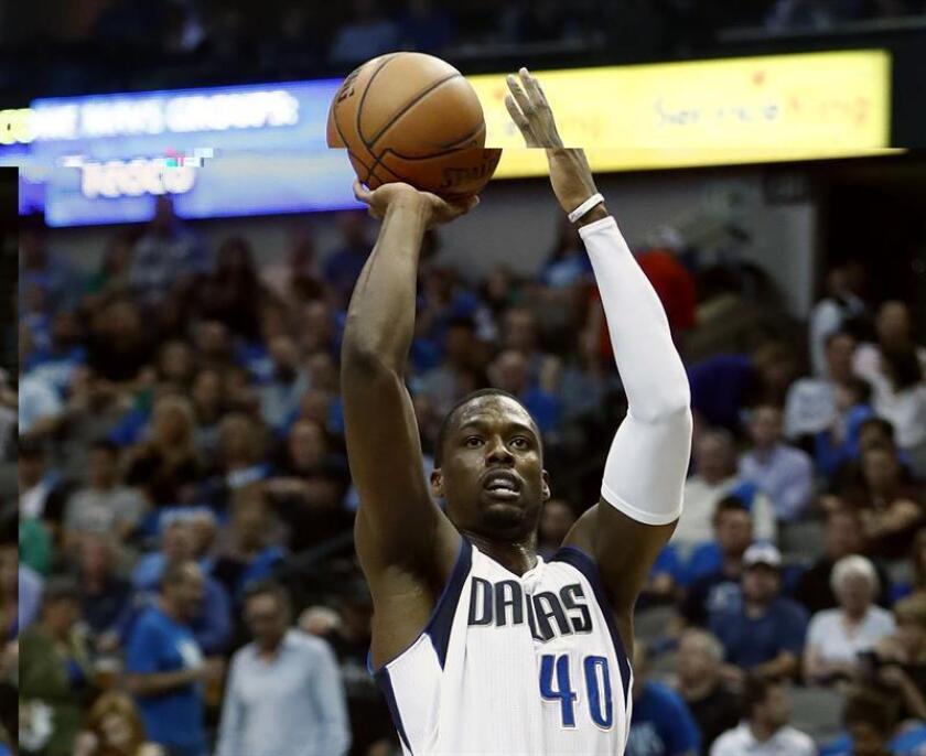 El jugador de los Mavericks Dallas, Harrison Barnes durante un partido de la NBA. EFE/Archivo