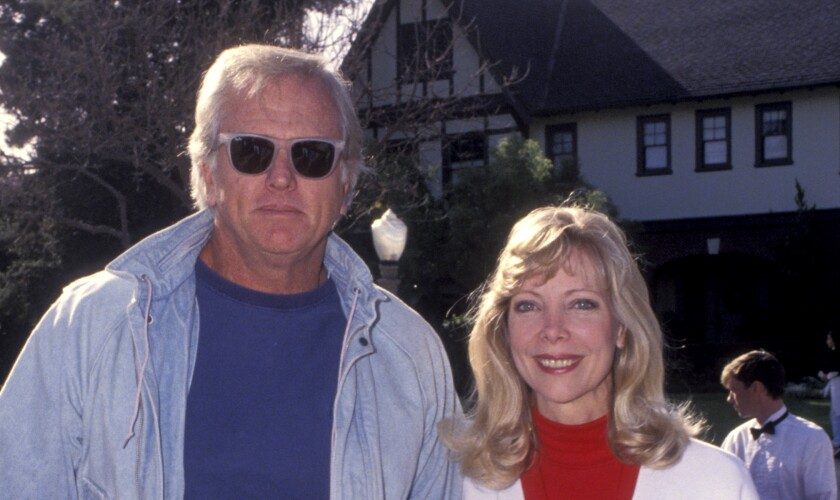 Actor Ron Ely and his wife, Valerie, in 1992 in Los Angeles.