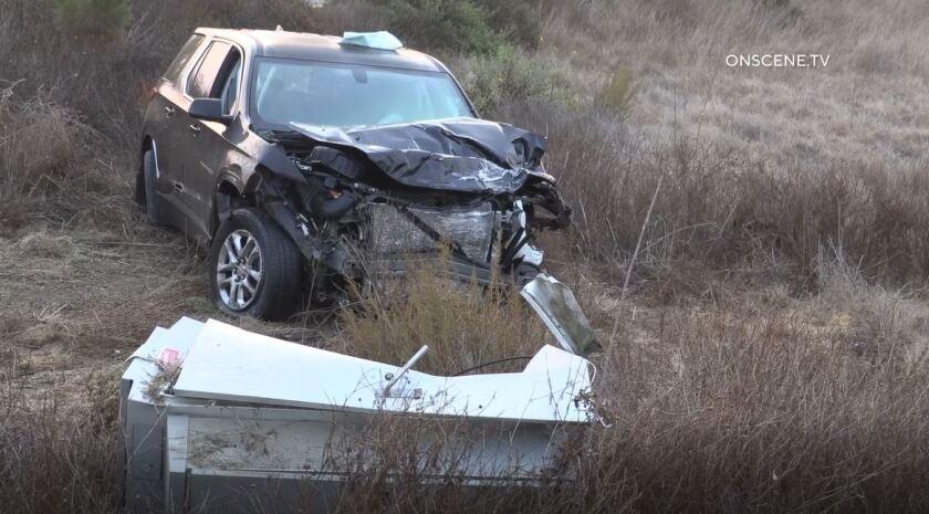 SUV involved in crash