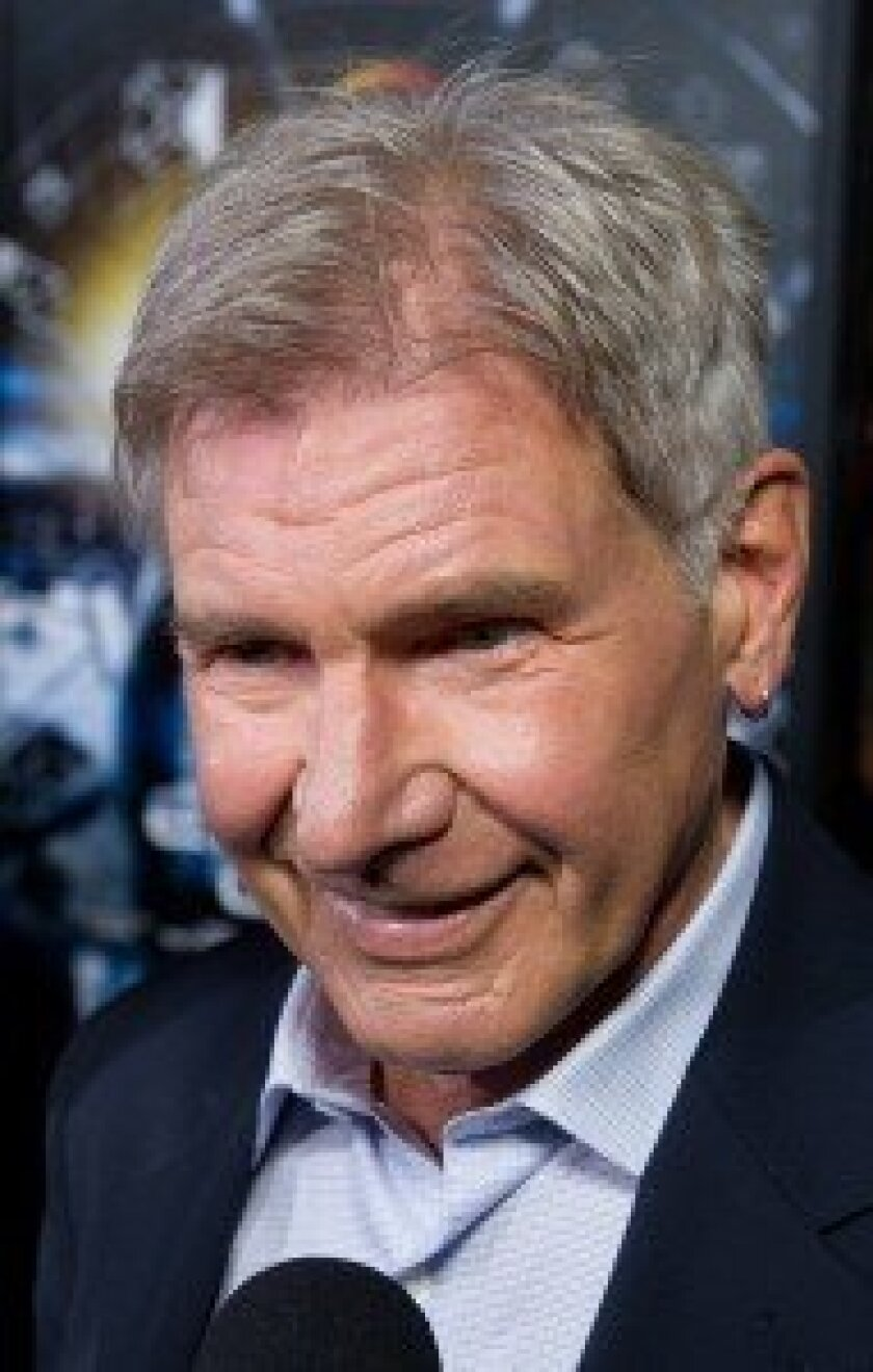 Harrison Ford at Ender's Game red carpet in Hollywood.