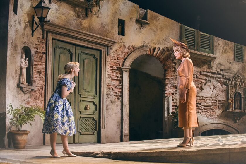 "Dove Cameron as Clara and Renée Fleming as Margaret in ""The Light in the Piazza."""