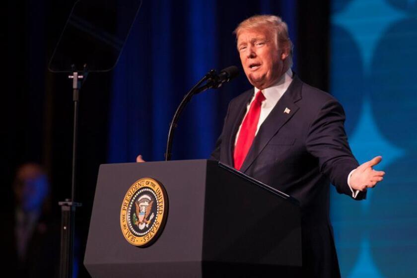 El presidente estadounidense Donald J. Trump. EFE/Archivo