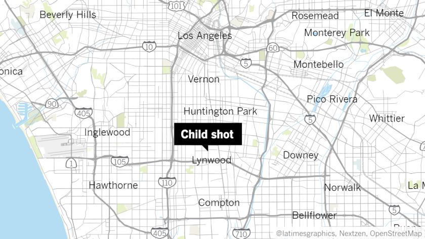 Child shot in South L.A.