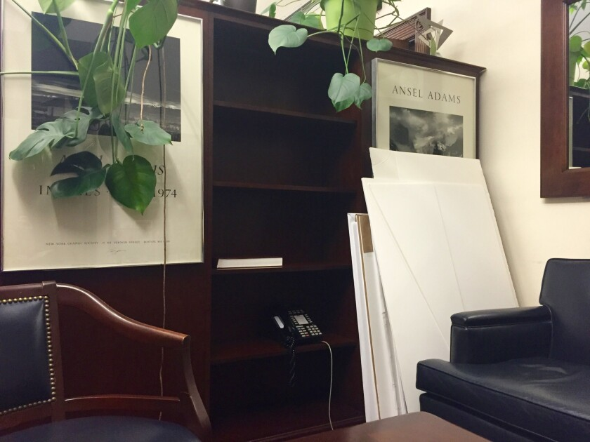 Prints from acclaimed photographer Ansel Adams are among the items in Rep. Sam Farr's Washington office waiting to make the trip back to Carmel. Farr retires in January.