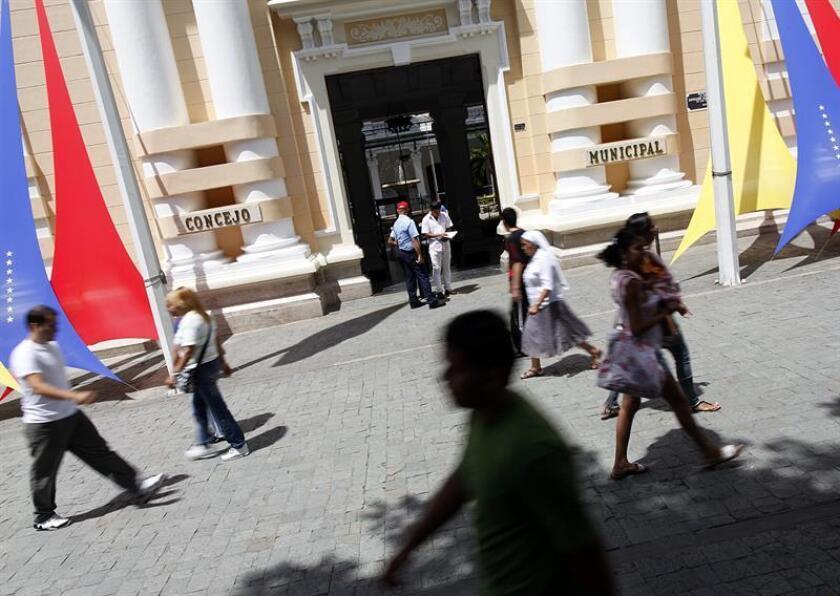 Vista del centro histórico de Caracas, capital venezolana. EFE/Archivo