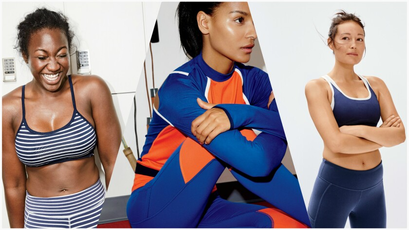 Looks from the New Balance x J.Crew women's active collection.