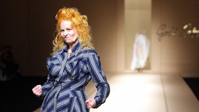 "British designer Vivienne Westwood is shown in Paris in 2007 from the documentary ""Westwood: Punk, Icon, Activist."""