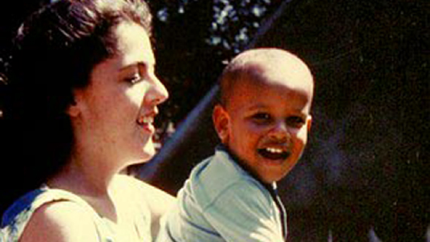 Barack Obama with his mother Ann Dunham in the 1960s.