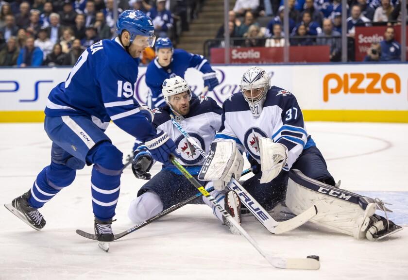 Jets Maple Leafs Hockey