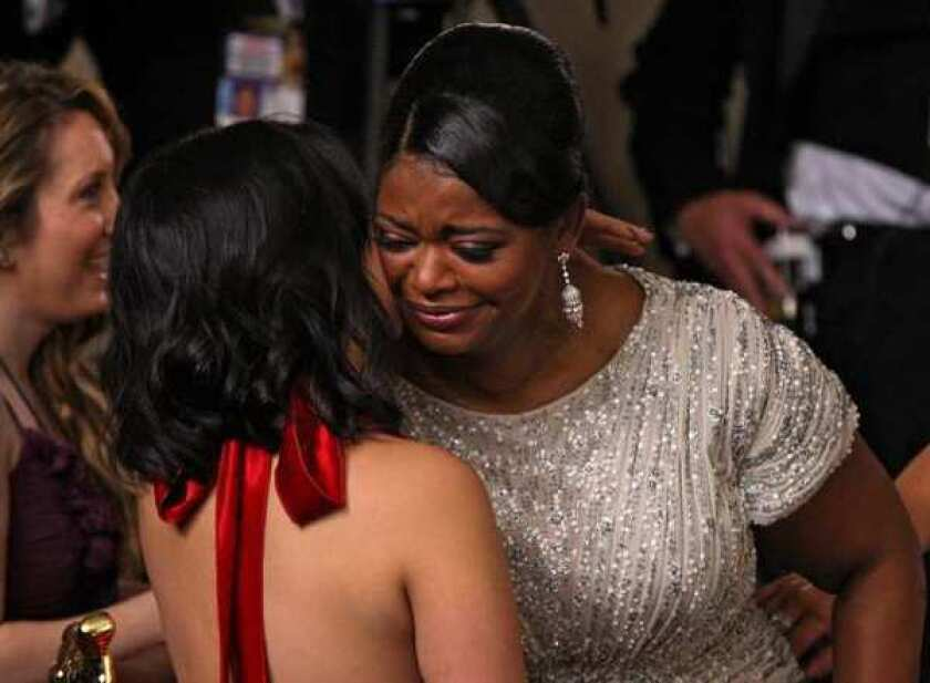 "Octavia Spencer, being congratulated for winning an Oscar in February for her role in ""The Help,"" has been invited to join the academy."