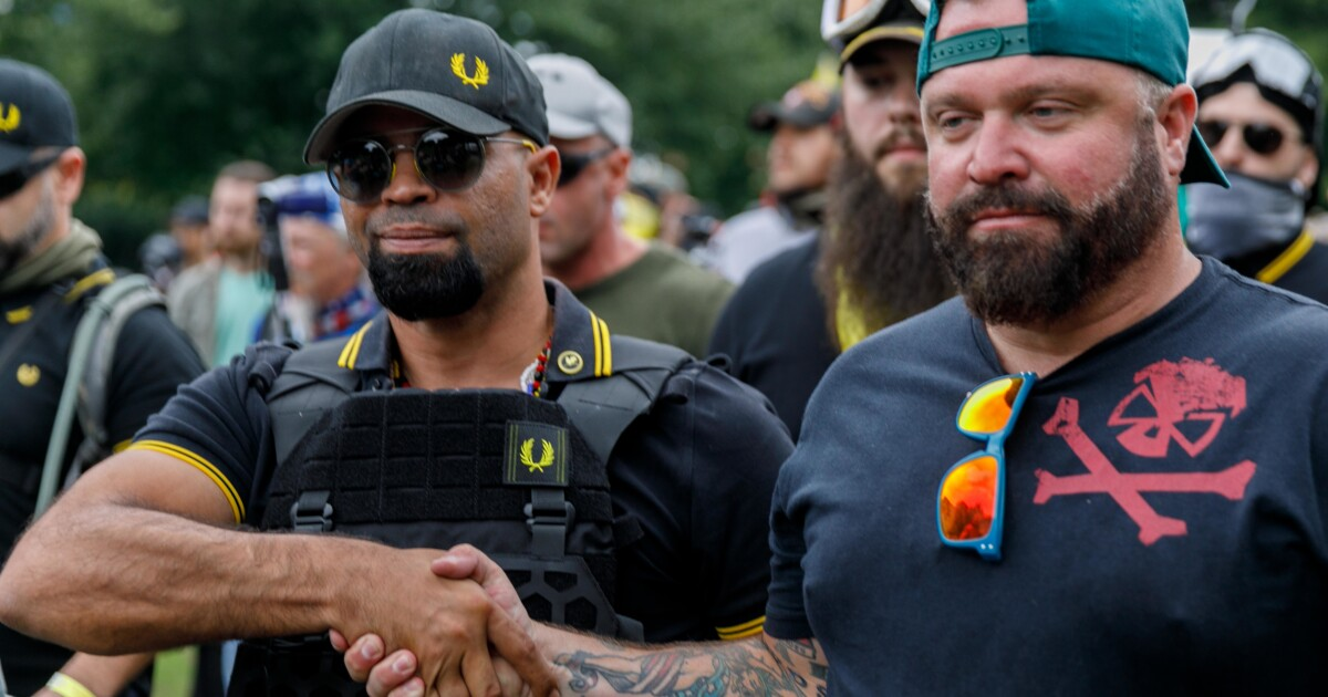 Proud Boys organizer, celebrating Trump endorsement, says group will keep battling left-wing activists