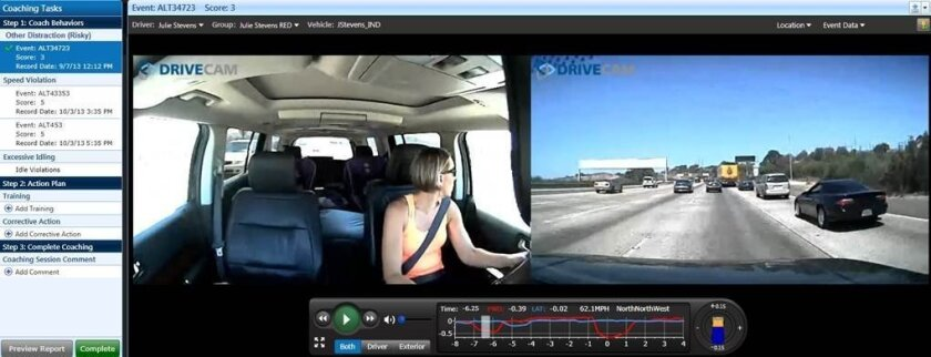 Lytx's DriveCam software as a service program provides video-based coaching to commercial drivers