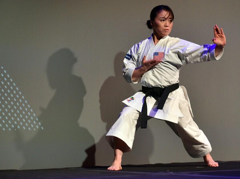 Martial artist Sakura Kokumai performs in Las Vegas