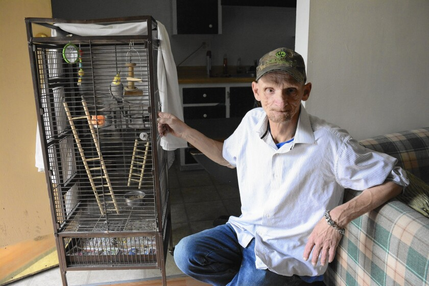 Buddy the cockatoo has helped inspire Terry Birch to take care of his new Salt Lake City apartment – and himself – after two decades of homelessness.