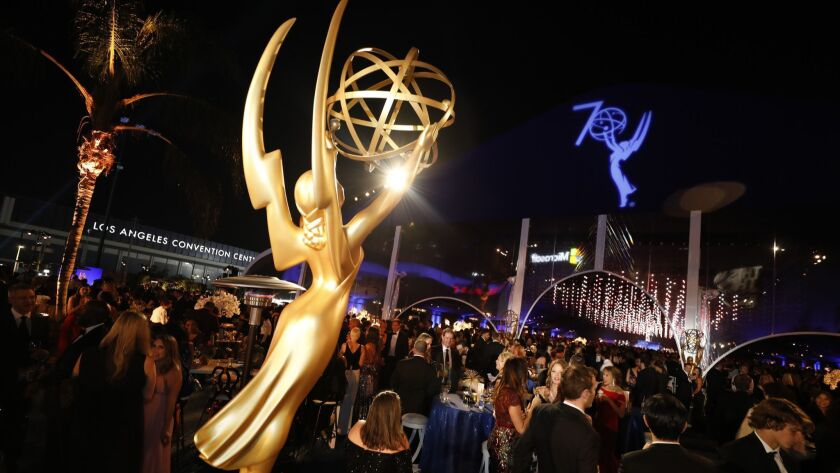 The scene at the Governors Ball on the L.A. LIVE Event Deck after the 70th Primetime Emmy Awards in Los Angeles.