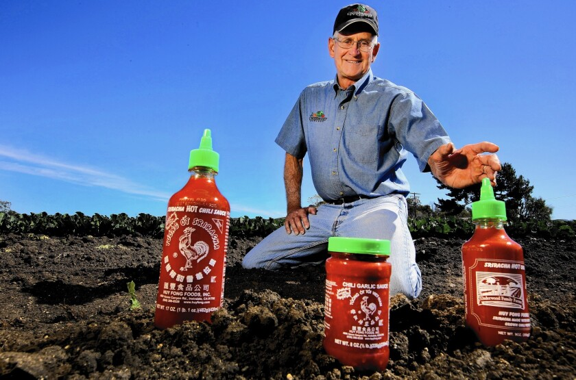 Craig Underwood grows 2,000 acres of peppers for Huy Fong Foods, maker of Sriracha sauce.