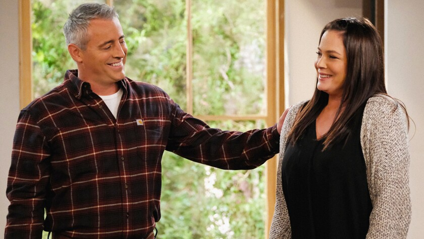 "Matt LeBlanc and Liza Snyder in the season premiere of the CBS comedy ""Man With a Plan."""