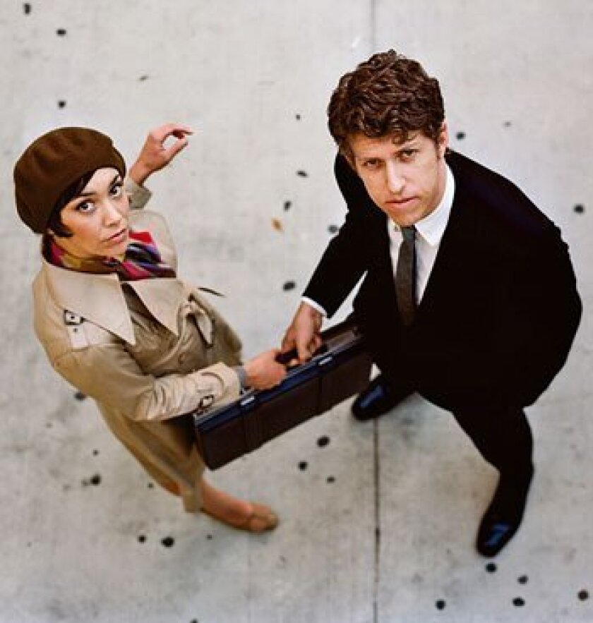 Inara George (left) and Greg Kurstin make slyly engaging music together as The Bird and The Bee.