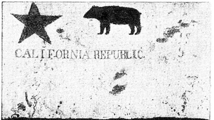 Historic California Bear Flag as photographed in 1890.