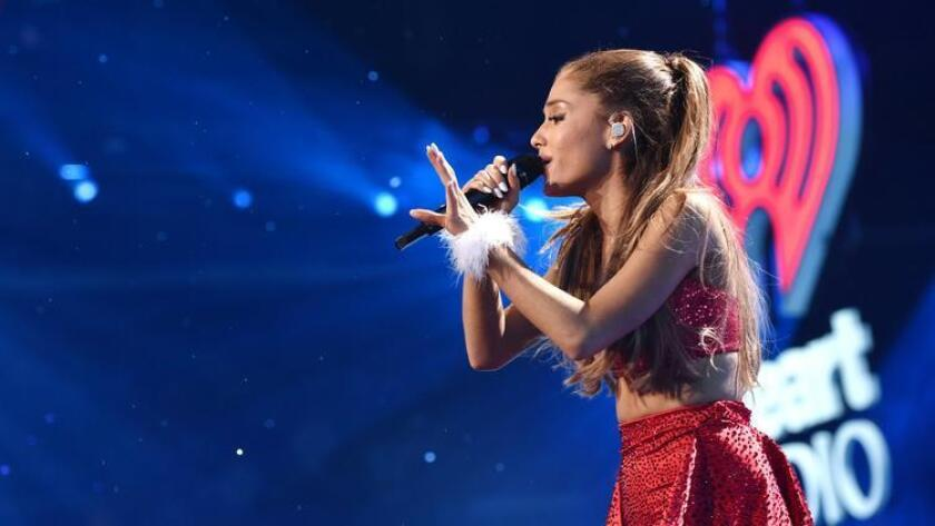 Ariana Grande performs at the KIIS FM's Jingle Ball at the Staples Center on Friday, Dec. 5, 2014, in Los Angeles. (Photo by John Shearer/Invision/AP)