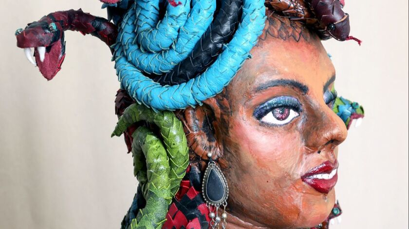 """This sculpture titled """"Medusa"""" by artist A. Laura Brody is part of the """"There's No End to Her"""" exhibit at ace/121 Gallery in Glendale."""