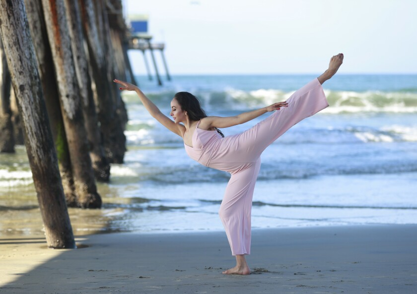 Ballet dancer Lori Hernández, photographed at the Imperial Beach Pier