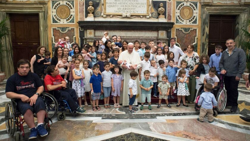 Pope Francis meets with orum of Family Associations, Vatican City, Vatican City State (Holy See) - 16 Jun 2018