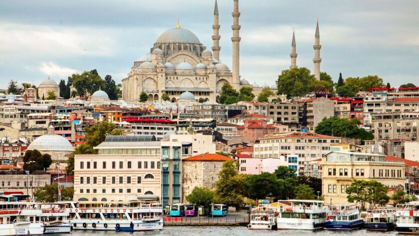 The Suleymaniye Mosque is an architectural landmark in picturesque Istanbul. CREDIT: Norma Meyer