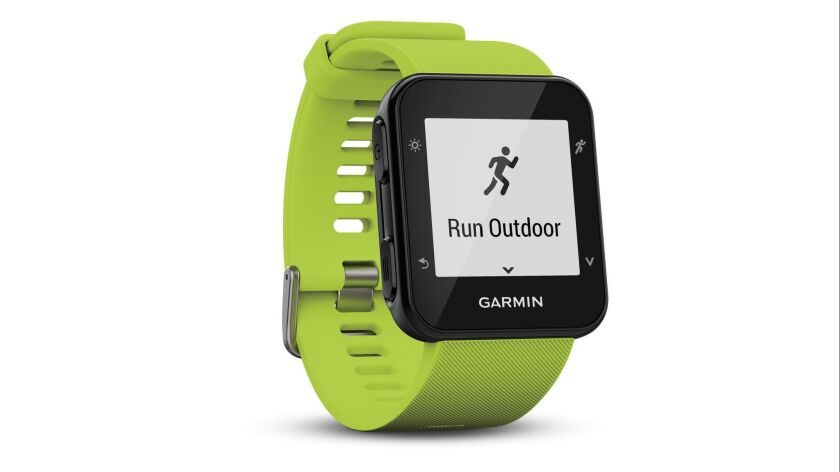 The lightweight Garmin Forerunner 35 running watch, $169.99 at Garmin.com comes equipped with live